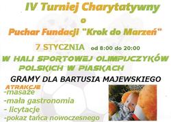 """IV Turniej Charytatywny o Puchar Fundacji """"Krok do marzeń"""" 7.01.2017"""