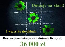 Zdobądź aż 36000 zł bezzwrotnej dotacji na założenie firmy!