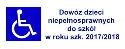 Dowóz dzieci niepełnosprawnych do szkół w roku szk. 2017/2018