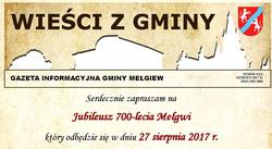 """Najnowszy numer gazetki """"Wieści z Gminy"""" (2/2017) już dostępny"""