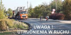 UWAGA! W DNIACH 29.09.2017–1.10.2017 ODCINKOWE ZAMKNIĘCIE TRASY PODZAMCZE – MINKOWICE – WIERZCHOWISKA