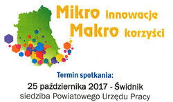 """Spotkanie informacyjno-warsztatowe w ramach projektu """"Mikro innowacje-makro korzyści"""""""