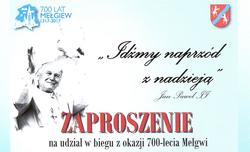 Zapraszamy na biegi z okazji 700 lecia Mełgwi