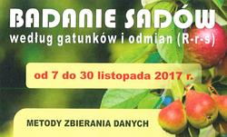 Badanie sadów w/g gatunków i odmian.