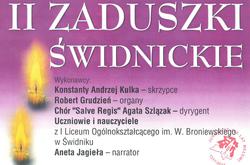 II Zaduszki Świdnickie - 5 listopada 2017 godz. 18:00