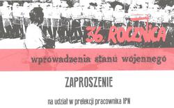 """14.12.2017 ► Prelekcja na temat""""Okoliczności wprowadzenia stanu wojennego w Polsce 13.XII.1981"""""""