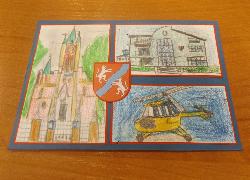"""Praca laureata I miejsca konkursu """"Mój projekt na pocztówkę z Mełgwi''"""