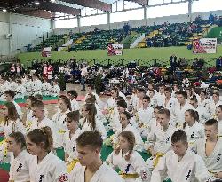 Zawodnik Lubelskiego Klubu Karate Kyokushin Kacper Caban