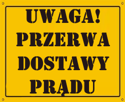 Przerwa dostawy prądu w Mełgwi