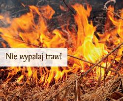 Komunikat w sprawie wypalania traw