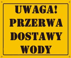Przerwa dostawy wody w Mełgwi