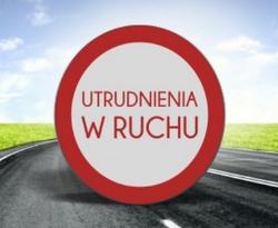 Utrudnienia komunikacyjne na trasie Mełgiew - Dominów